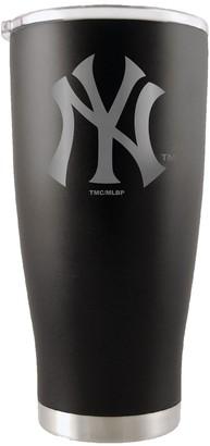 New York Yankees Unbranded 20oz. Etched Team Logo Tumbler - Black