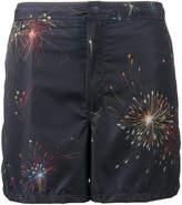 Valentino fireworks print swim short
