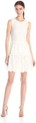 Cynthia Steffe CeCe by Women's Olivia Sleeveless Tiered Scallop Lace Dress