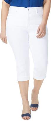 NYDJ Plus Plus Size Marilyn Cropped Jeans w/ Cuff