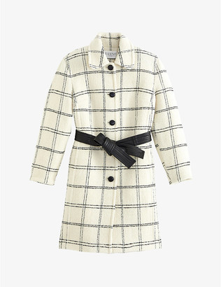 Claudie Pierlot Belted wool-blend coat