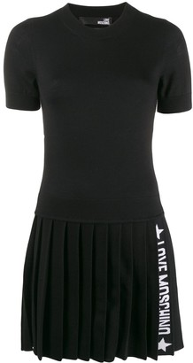 Love Moschino Knitted Logo Stripe Dress