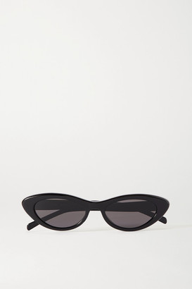 Celine Small Cat-eye Acetate Sunglasses - Black