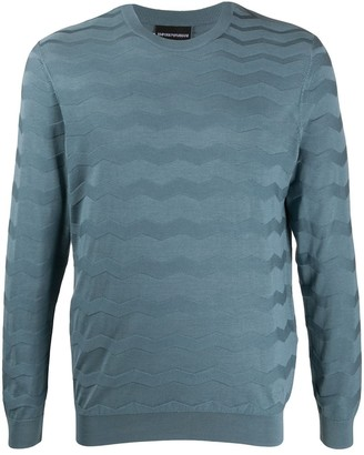Emporio Armani Wave Knitted Jumper