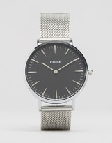 Cluse La Bohme Black & Silver Mesh Watch CL18106