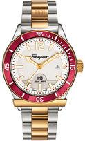 Salvatore Ferragamo Mens 1898 Sport Two-Tone Bracelet Watch