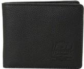 Herschel Hank Leather RFID (Black Pebbled Leather 1) Wallet Handbags