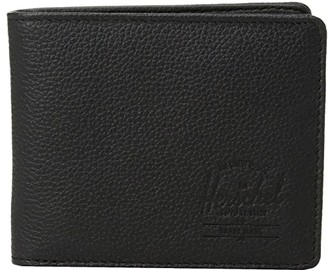 Herschel Hank Leather RFID (Black Pebbled Leather 1) Wallet Handbags
