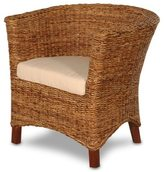 Jeffan Meticulously Woven Abaca Accent Chair with Cushion