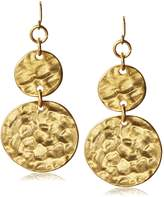 Kenneth Jay Lane Double Coin Drop Earrings
