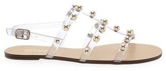 Schutz Yarin Studded Vinyl Flat Sandals