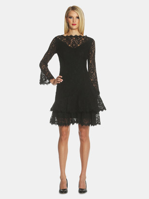Shani Double Ruffle Lace Dress