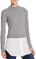 Aqua Cashmere Shirttail Sweater