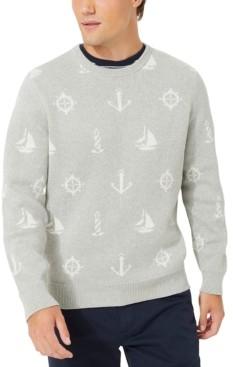 Nautica Men's Maritime Jacquard Sweater