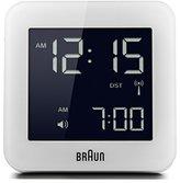 Braun Digital Alarm Clock, White