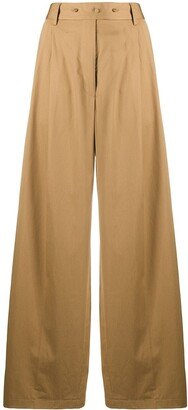 Maison Flaneur High-Waisted Wide Leg Trousers
