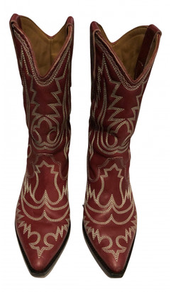 Isabel Marant Reckler Red Leather Boots