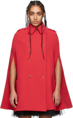 RED Valentino Red Double-Breasted Coat