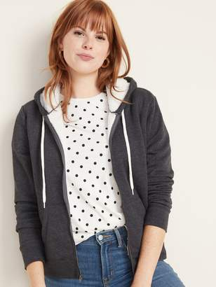 Old Navy Sherpa-Lined Zip Hoodie for Women