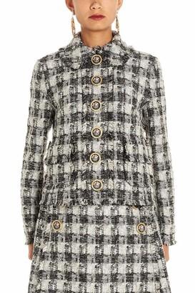 Dolce & Gabbana Button Embellished Tweed Jacket