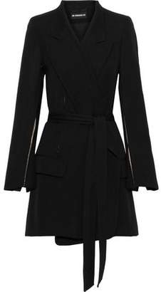 Ann Demeulemeester Satin-trimmed Wool And Cotton-blend Twill Coat