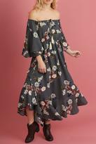 Umgee USA 1/2 Sleeve Floral Dress