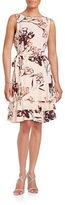 Ivanka Trump Floral Ruffled Tank Dress