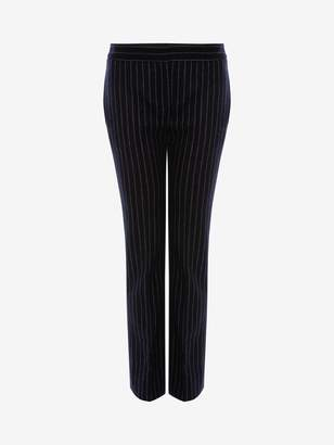 Alexander McQueen Pinstripe Cigarette Pants