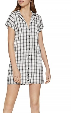BCBGeneration Plaid Woven Shirt Dress