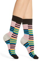 Happy Socks Women's Checks & Stripes Crew Socks