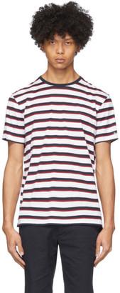 Ralph Lauren Purple Label White and Red Lisle T-Shirt