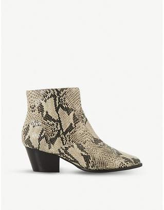 Dune Prairrie western leather ankle boot