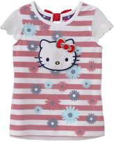 Hello Kitty Girls 4-6x Mesh Floral Top