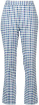 Rosie Assoulin checked cropped trousers - women - Cotton/Spandex/Elastane/Viscose - 0