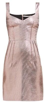 Emilia Wickstead Judita Lame Mini Dress - Pink