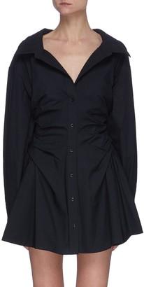 alexanderwang.t Cinched cotton shirt dress