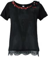 Twin-Set gem stone embellished T-shirt