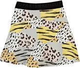 Kenzo Wildcat-Print Miniskirt