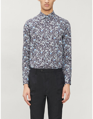 Ted Baker Floral-print regular-fit cotton shirt