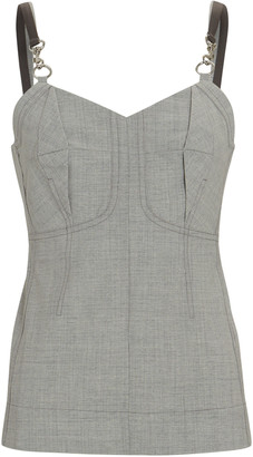 3.1 Phillip Lim Chambray Bustier Tank Top