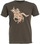 Ames Bros Bigfoot vs Unicorn T-shirt Brown