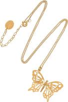 Alex Monroe Butterfly 22-karat gold necklace