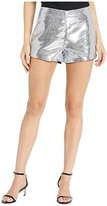 Blank NYC Sequin Shorts in Astrology (Silver) Women's Casual Pants