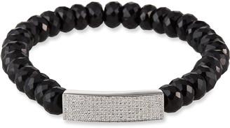 Sydney Evan 14k White Gold Diamond Bar & Spinel Bracelet