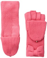 Kate Spade Solid Bow Pop Top Extreme Cold Weather Gloves