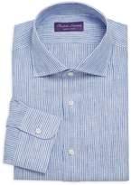 Ralph Lauren Purple Label Aston Striped Linen Dress Shirt