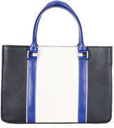 BCBGMAXAZRIA Imani Color-Blocked Leather Satchel