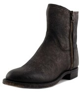Lucchese Harper Women Round Toe Leather Black Ankle Boot.