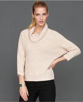 INC International Concepts Sweater, Dolman-Sleeve Metallic Cowl-Neck
