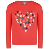 Paul Smith JuniorGirls Coral Spotted Heart Pabla Top